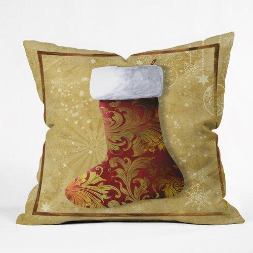 Madart Inc. Vintage Stocking 3 Throw Pillow