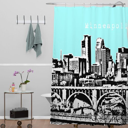 DENY Designs Bird Ave Woven Polyester Minneapolis Shower Curtain