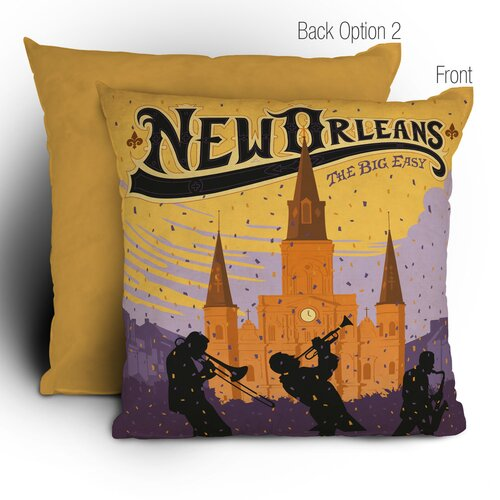 DENY Designs Anderson Design Group New Orleans 1 Woven Polyester Throw Pillow