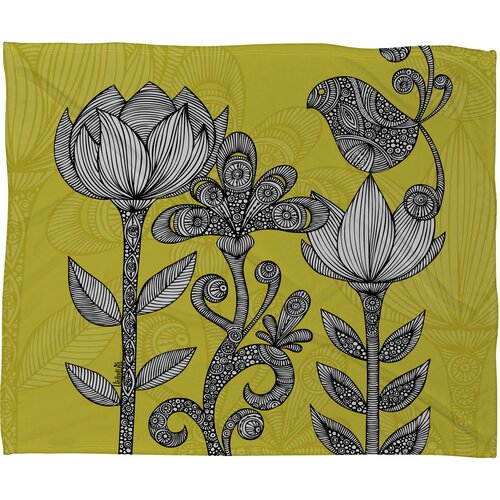 DENY Designs Valentina Ramos Green Garden Polyester Fleece Throw Blanket