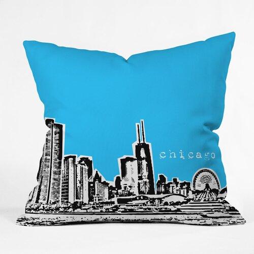 DENY Designs Bird Ave Chicago Woven Polyester Throw Pillow