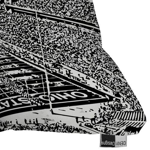 DENY Designs Bird Ave Ohio State Buckeyes Woven Polyester Throw Pillow