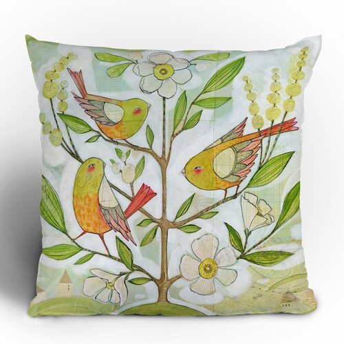 DENY Designs Cori Dantini Community Tree Woven Polyester Throw Pillow