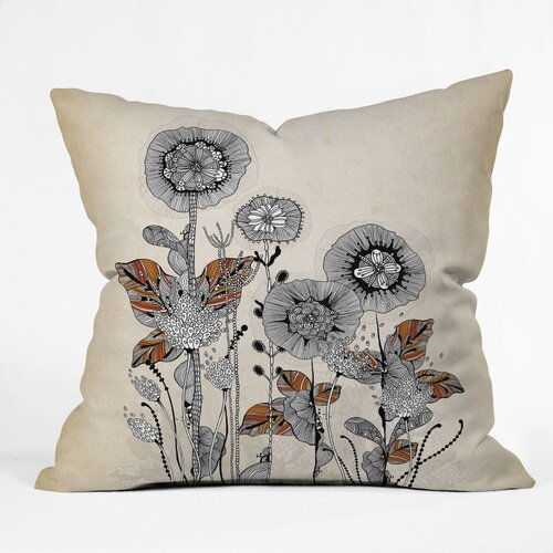 Iveta Abolina Floral 3 Woven Polyester Throw Pillow