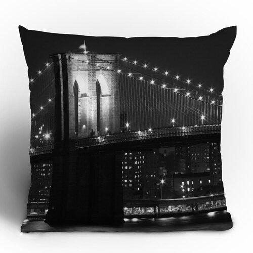 Leonidas Oxby Brooklyn Bridge 125 Woven Polyester Throw Pillow