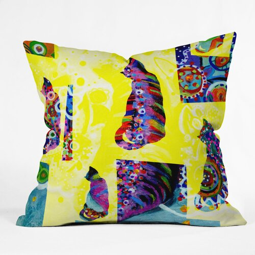 Randi Antonsen Cats 1 Woven Polyester Throw Pillow