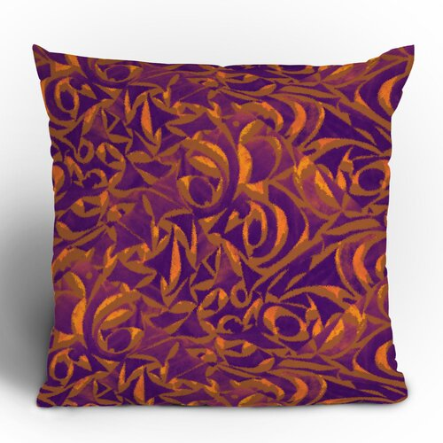 DENY Designs Wagner Campelo Abstract Garden Polyester Throw Pillow