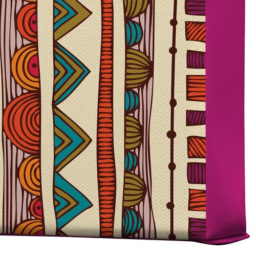 DENY Designs Ethnic Stripes by Valentina Ramos Graphic Art on Canvas