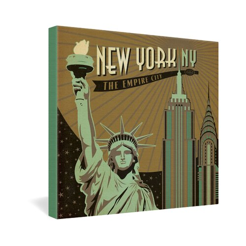 New York by Anderson Design Group Vintage Advertisement on Canvas