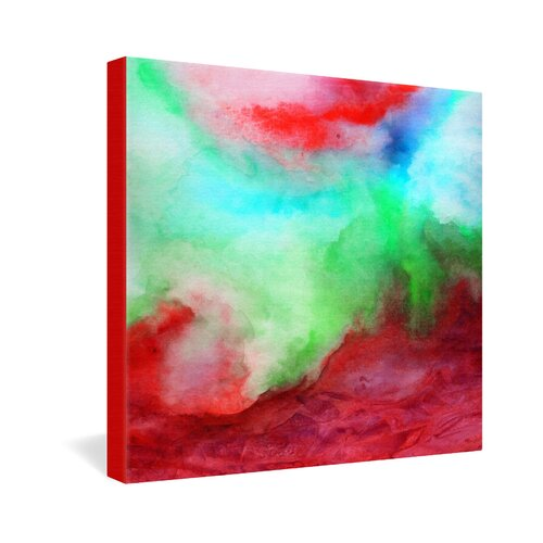DENY Designs The Red Sea by Jacqueline Maldonado Painting Print on Canvas