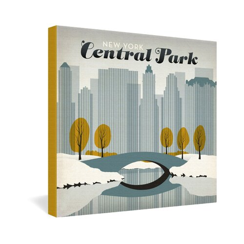 Central Park Snow by Anderson Design Group Vintage Advertisement on Canvas