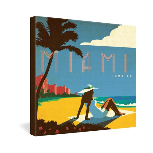 Miami by Anderson Design Group Vintage Advertisement on Canvas
