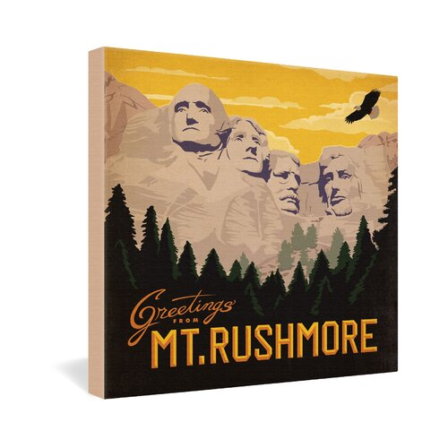 Mt Rushmore by Anderson Design Group Vintage Advertisement on Canvas