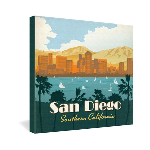 San Diego by Anderson Design Group Vintage Advertisement on Canvas