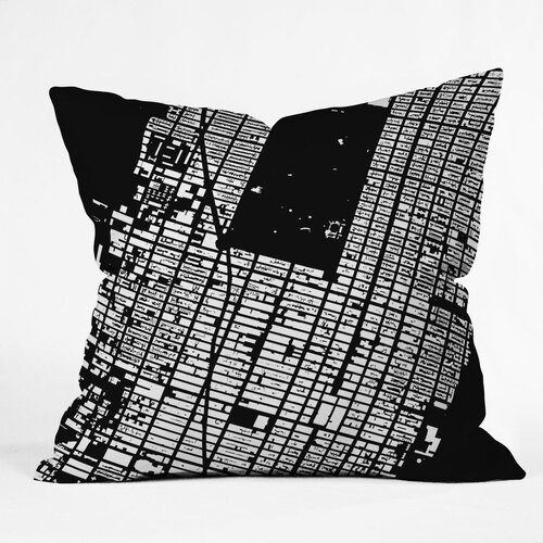 CityFabric Inc NYC Midtown Indoor / Outdoor Polyester Throw Pillow