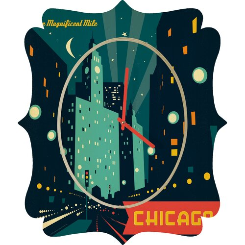DENY Designs Anderson Design Group Chicago Mag Mile Wall Clock