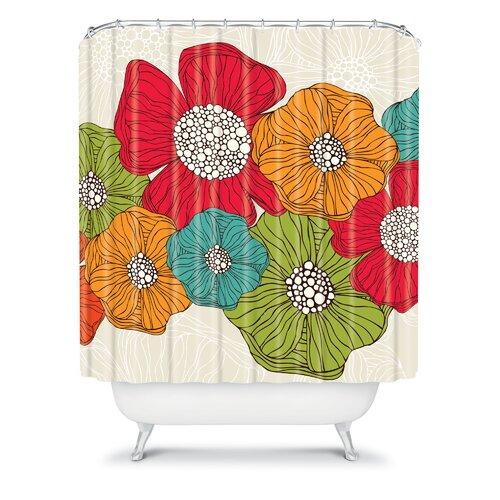 DENY Designs Valentina Ramos Polyester Flowers Shower Curtain