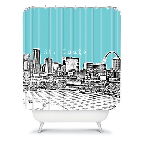 DENY Designs Bird Ave Woven Polyester St Louis Shower Curtain