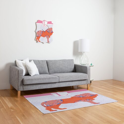 DENY Designs Jennifer Hill Miss Lion Kids Rug