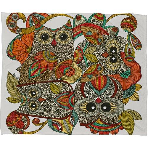 Valentina Ramos 4 Owls Polyester Fleece Throw Blanket