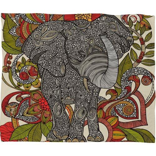 Valentina Ramos Bo The Elephant Polyester Fleece Throw Blanket
