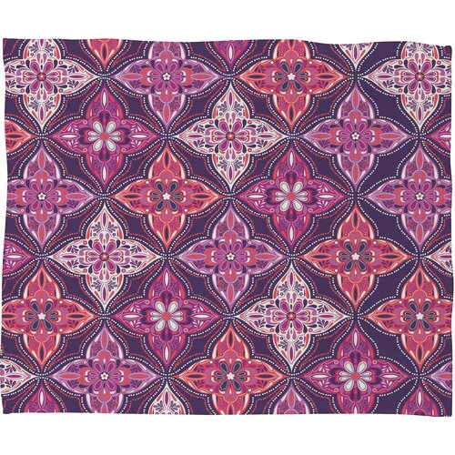Khristian A Howell Provencal Lavender 5 Polyester Fleece Throw Blanket