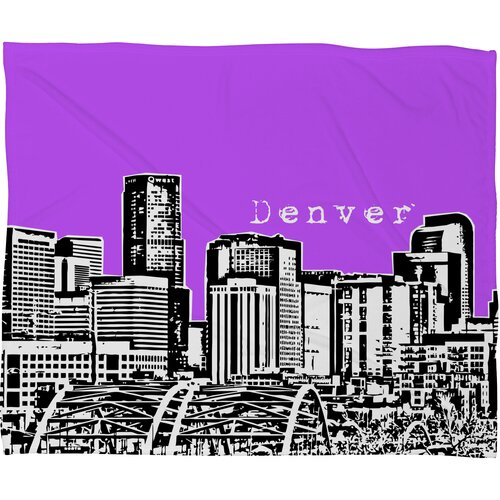 DENY Designs Bird Ave Denver Polyester Fleece Throw Blanket