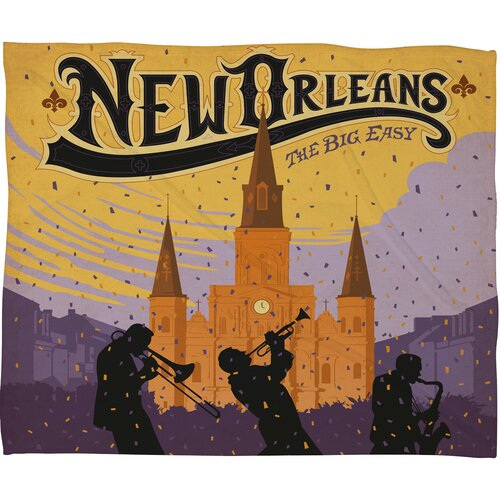 DENY Designs Anderson Design Group New Orleans 1 Polyester Fleece  Throw Blanket