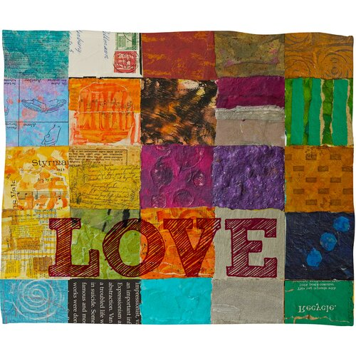 DENY Designs Elizabeth St Hilaire Nelson Love Polyester Fleece Throw Blanket