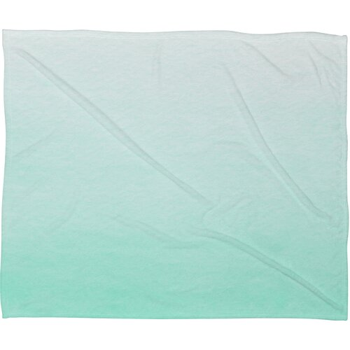 Social Proper Mint Ombre Polyester Fleece Throw Blanket