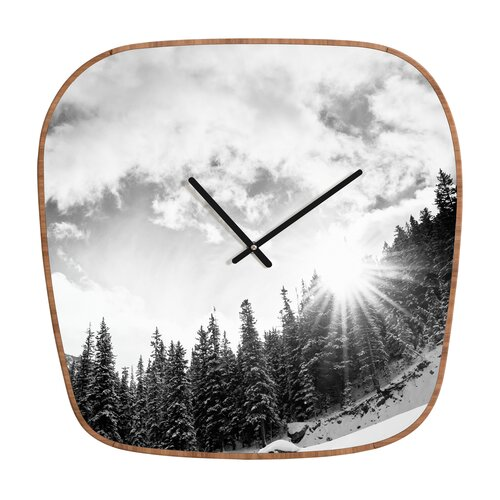 DENY Designs Bird Wanna Whistle Mountain Wall Clock