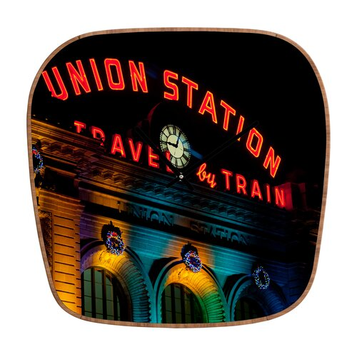 DENY Designs Bird Wanna Whistle Union Station Wall Clock