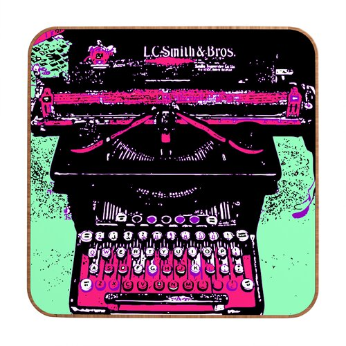 DENY Designs Antique Typewriter by Romi Vega Framed Graphic Art Plaque