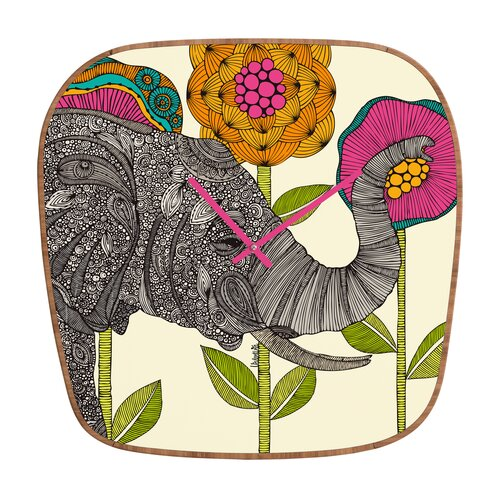 DENY Designs Valentina Ramos Aaron the Elephant Wall Clock
