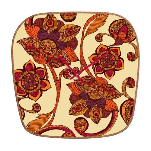 DENY Designs Valentina Ramos Boho Flowers Wall Clock