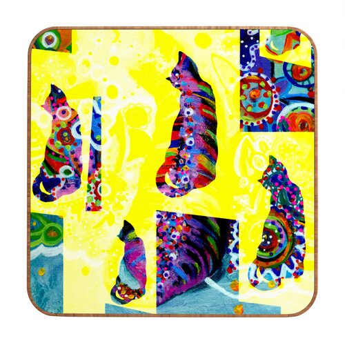 DENY Designs Cats 1 by Randi Antonsen Framed Graphic Art Plaque