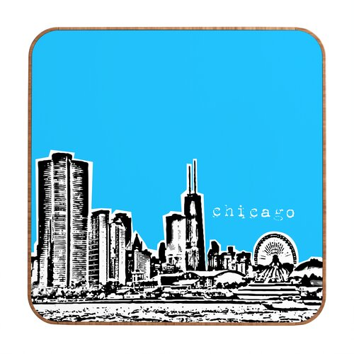 DENY Designs Chicago by Bird Ave. Framed Graphic Art Plaque