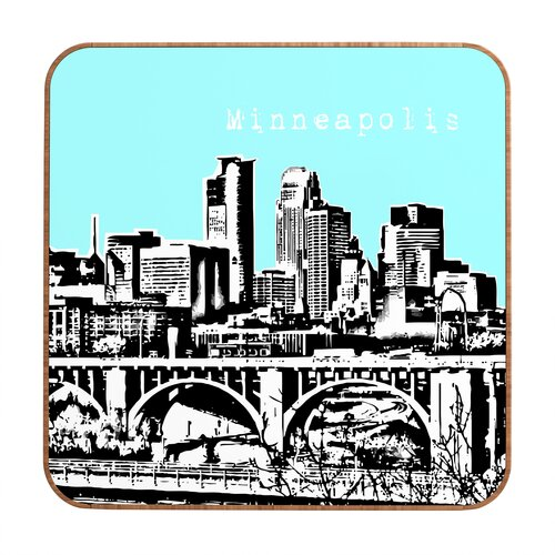 Minneapolis by Bird Ave. Framed Graphic Art Plaque
