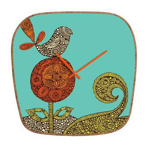 DENY Designs Valentina Ramos Bird and Flower Wall Clock