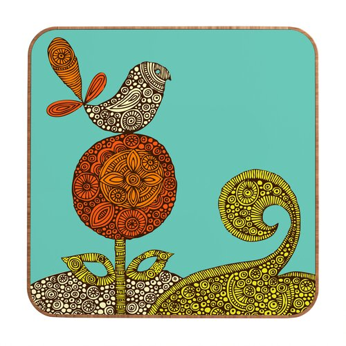 DENY Designs Bird in The Flower by Valentina Ramos Framed Graphic Art Plaque