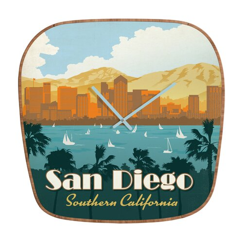 DENY Designs Anderson Design Group San Diego Wall Clock