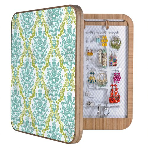 Rebekah Ginda Design Lovely Damask Jewelry Box