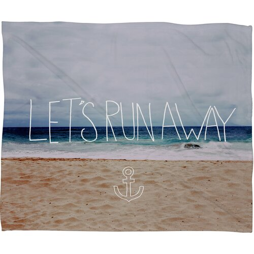 Leah Flores Lets Run Away III Polyesterrr Fleece Throw Blanket
