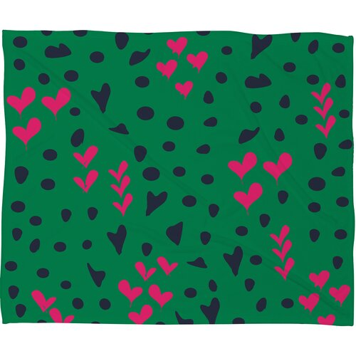 DENY Designs Vy La Animal Love Polyesterr Fleece Throw Blanket
