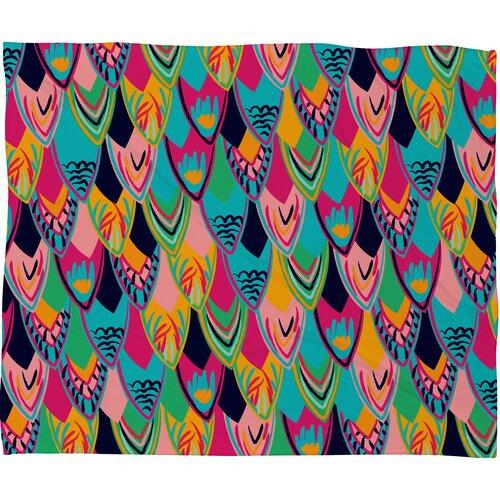 DENY Designs Vy La Love Birds 1 Polyesterr Fleece Throw Blanket