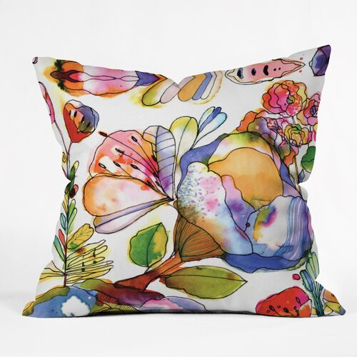 CayenaBlanca Blossom Pastel Throw Pillow