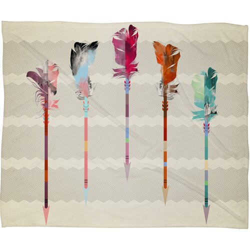 Iveta Abolina Feathered Arrows Polyesterrr Fleece Throw Blanket