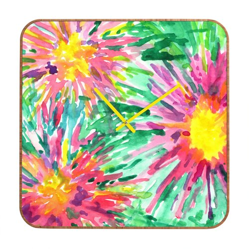 Joy Laforme Floral Confetti Wall Clock