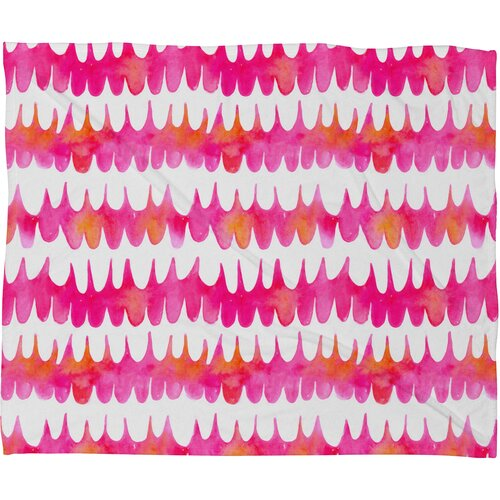 Betsy Olmsted Owl Feather Polyesterrr Fleece Throw Blanket
