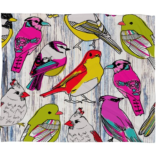 Mary Beth Freet Couture Home Birds Polyesterrr Fleece Throw Blanket